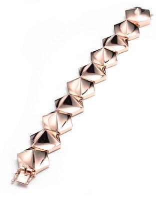 Eddie Borgo Bent Pyramid Bracelet, Rose Gold