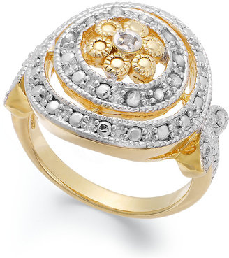 Townsend Victoria Diamond Circle Ring in 18k Gold over Sterling Silver (1/10 ct. t.w.)