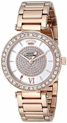 Juicy Couture Women's 1901152 Luxe Couture Analog Display Quartz Rose Gold-Plated Watch $225 thestylecure.com