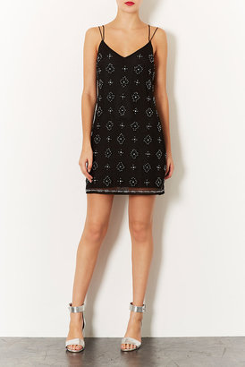 Topshop Beaded Strappy Slip Dress