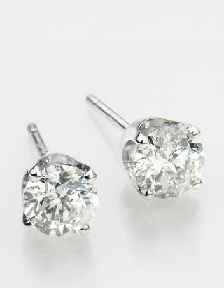 Lord & Taylor 14K White Gold 0.6 Carat Round Diamond Stud Earrings