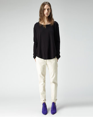 Organic by John Patrick slouch long sleeve shirttail