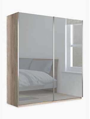 John Lewis & Partners Elstra 200cm Wardrobe with Mirrored Sliding Doors