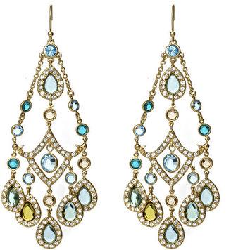 ABS by Allen Schwartz Multi Color Crystal Chandelier Earrings