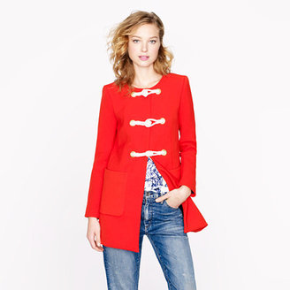 J.Crew Collection modern toggle coat