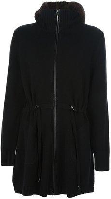 Max & Moi hooded cardi-coat