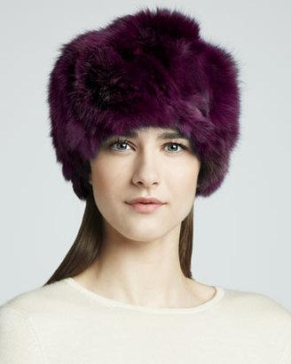 Adrienne Landau Rabbit Hat, Magenta