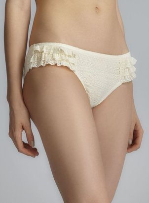 Juicy Couture Lace Side Ruffle Hipster Bottom