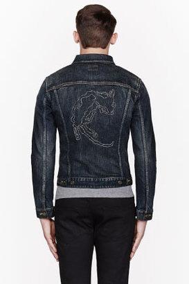 Saint Laurent Dark Blue Dead Rat Denim Jacket