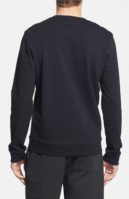 Topman Sueded Front Crewneck Sweatshirt