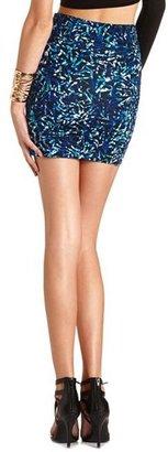 Charlotte Russe Shattered Geo Mini Skirt
