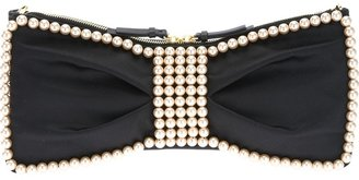Moschino Cheap & Chic pearly bow clutch
