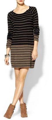 Juicy Couture Olive & Oak Stripe Sweater Dress