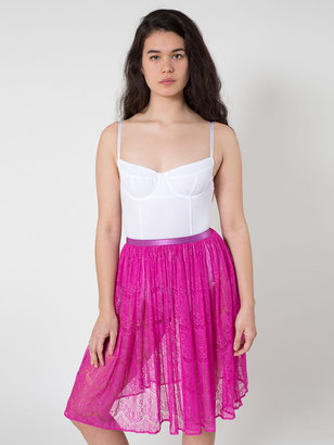 American Apparel Lace Mid-Length Skirt