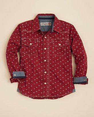 Sovereign Code Boys' Bennet Dot Woven Shirt - Sizes 2T-7