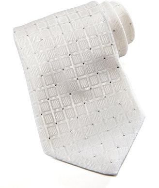 Stefano Ricci Stfno Ricci Squares Silk Tie, White