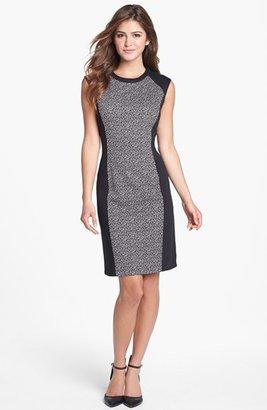 Calvin Klein Colorblock Print Ponte Knit Dress (Online Only)