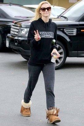 Koolaburra Hayley Fringe Ankle Boots in Chestnut