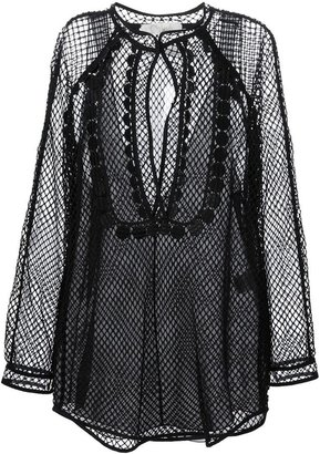 Chloé layered mesh blouse