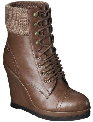 Mossimo Women's Kalare Wedge Ankle Boot - Cognac