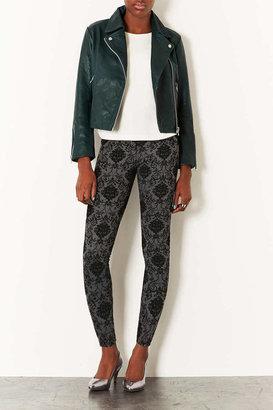 Topshop Boxy Leather Biker Jacket