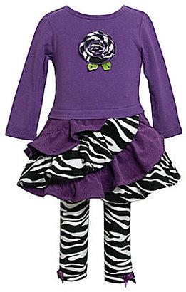 Bonnie Jean 2T-6X Ruffle Zebra Set