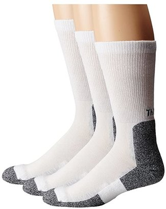 Thorlos Lite Running Crew 3-Pair Pack (White/Black) Men's Crew Cut Socks Shoes