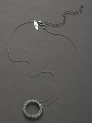 New York & Co. City Bright Pave Circle Necklace