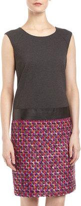 Lafayette 148 New York Shenae Boucle-Skirt Dress, Spectrum/Gray