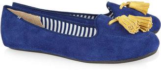 Charles Philip Shanghai Tasseled suede slippers
