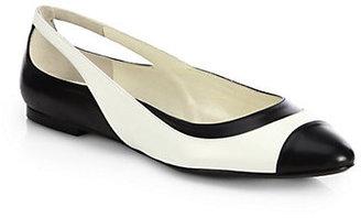 Ralph Lauren Tienne Bicolor Leather Ballet Flats