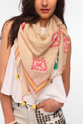 Urban Outfitters Aish Embroidered Scarf