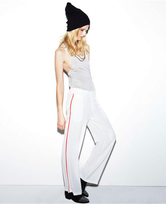 Made Fashion Week for Impulse Pants, Wide-Leg Piped-Trim