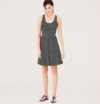 LOFT Tall Striped Flare Tank Dress