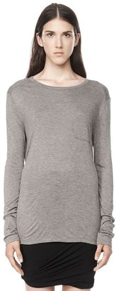 Alexander Wang Classic Long Sleeve Tee With Pocket