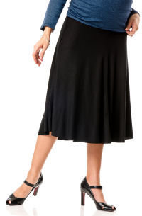 A Pea in the Pod Self Belly Knee Length A-line Maternity Skirt