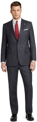 Brooks Brothers Regent Fit Saxxon® Shadow Blue Rope Stripe 1818 Suit