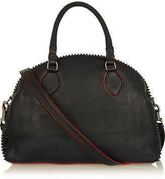Christian Louboutin Panettone large spiked textured-leather tote