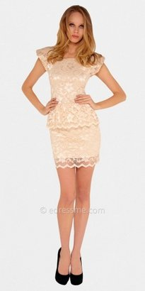Cap Sleeve Peplum Party Dresses by Sentimental NY