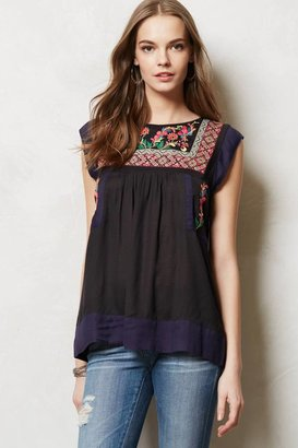 Anthropologie Kyra Embroidered Tunic