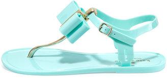 Kate Spade Filo Bow Jelly Thong Sandal, Seafoam