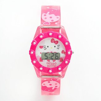 Hello Kitty simulated crystal digital watch - kids