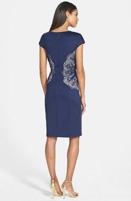Tadashi Shoji Lace Inset Jersey Dress