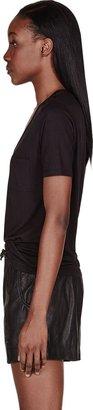 Alexander Wang Black Classic Pocket T-Shirt
