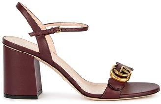 Gucci GG Marmont 75 Bordeaux Leather Sandals