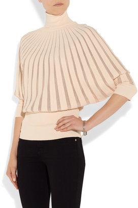 Bottega Veneta Stretch-knit and mesh top