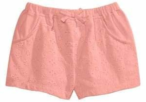 First Impressions Baby Girl's Eyelet Cotton Shorts