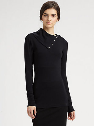 Diane von Furstenberg Convertible Turtleneck Top