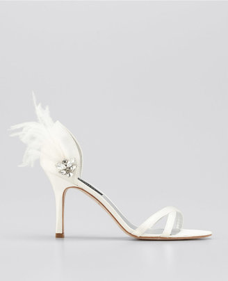 Ann Taylor Feathered Strappy Sandals