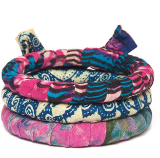 Nicole Miller Indego Africa Fabric Wrap Bracelet